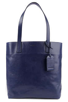 JIL SANDER Logo-embossed leather shopper bag
