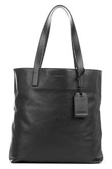 JIL SANDER Logo-embossed leather tote