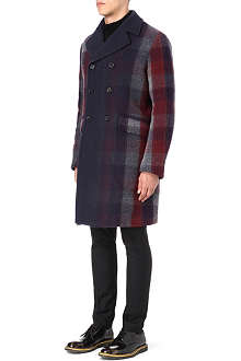 JIL SANDER Bosnia check wool-blend coat
