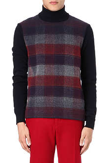JIL SANDER Knitted check jumper