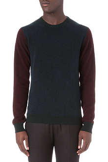 JIL SANDER Colourblocked knitted jumper