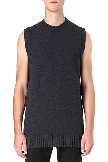 JIL SANDER Long length sleeveless knit top