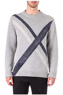 JIL SANDER Needle punch cross knitted jumper