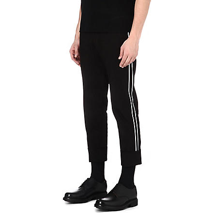 JIL SANDER Carl side-stripe trousers (Black