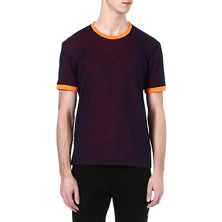 JIL SANDER Fluro-trim t-shirt (Navy/orange