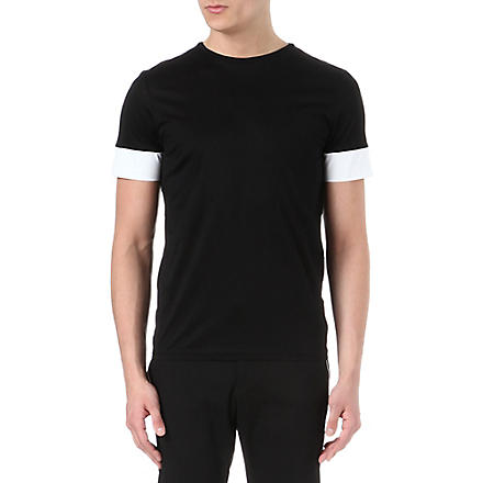 JIL SANDER Panel sleeve t-shirt (Black/white