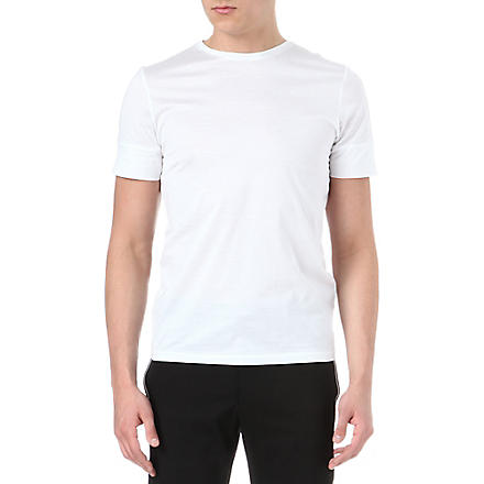 JIL SANDER Panel sleeve t-shirt (White/black