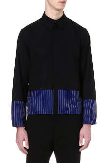 JIL SANDER Block panel zip shirt