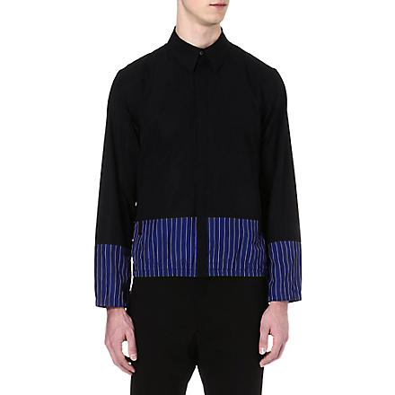 JIL SANDER Block panel zip shirt (Black/white