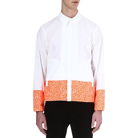 JIL SANDER Block-panelled shirt (White/orange