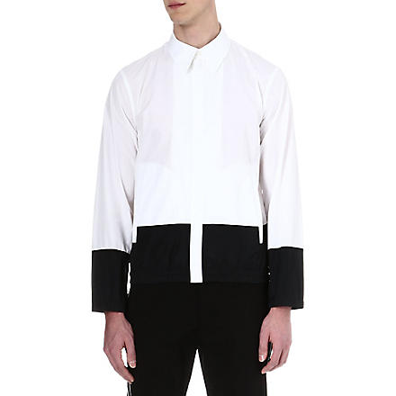 JIL SANDER Block-panelled shirt (White/black