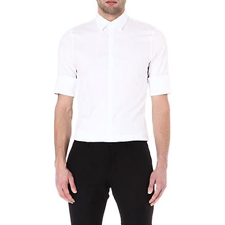 JIL SANDER Cherry slim-fit stretch-cotton shirt (White