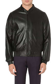 JIL SANDER Ribbed reversible leather bomber