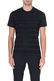 JIL SANDER Textured-stripe t-shirt