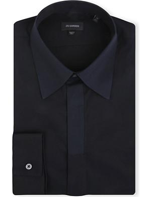 JIL SANDER Contrast-collar slim-fit shirt