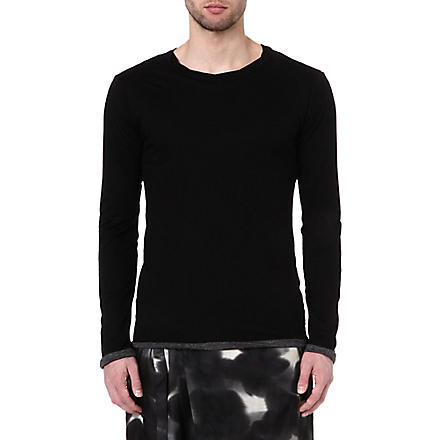 YOHJI YAMAMOTO Double-layered long-sleeve t-shirt (Black