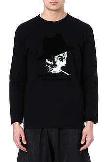 YOHJI YAMAMOTO Smoking Skull long-sleeved top