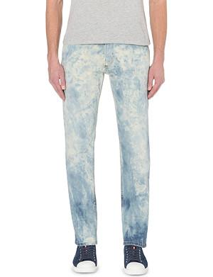 ROBERTO CAVALLI Bleached effect stretch-denim jeans