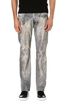 ROBERTO CAVALLI Fur print slim-fit jeans