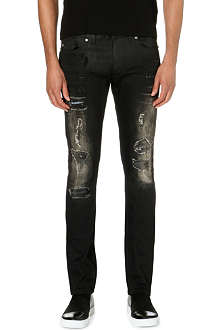 ROBERTO CAVALLI Destroy slim-fit straight jeans