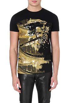 ROBERTO CAVALLI Gold print t-shirt