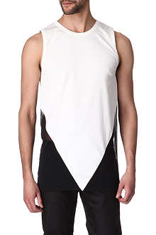 GARETH PUGH Triangular mixed-fabric vest