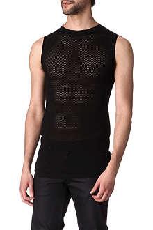 GARETH PUGH Cotton and silk-blend net vest