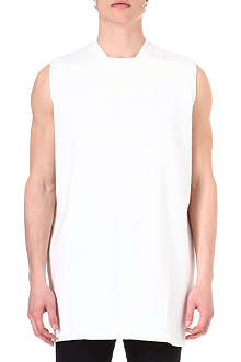 RICK OWENS DRKSHDW Sleeveless taped sweatshirt