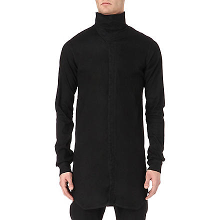 RICK OWENS DRKSHDW Funnel neck shirt (Black