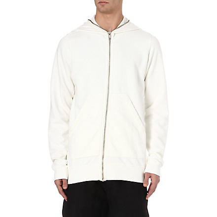 RICK OWENS DRKSHDW Basic zip up hoody (Milk