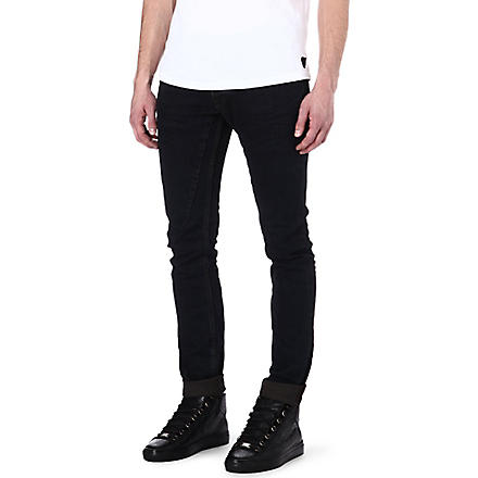RICK OWENS DRKSHDW Detroit slim-fit tapered jeans (Blue