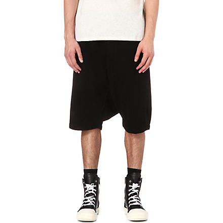 RICK OWENS DRKSHDW Drop-crotch shorts (Black