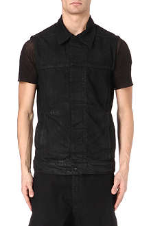 RICK OWENS DRKSHDW Sleeveless denim jacket