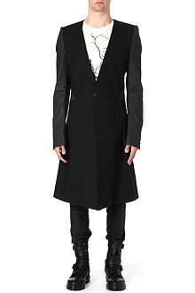 GARETH PUGH Leather sleeve coat