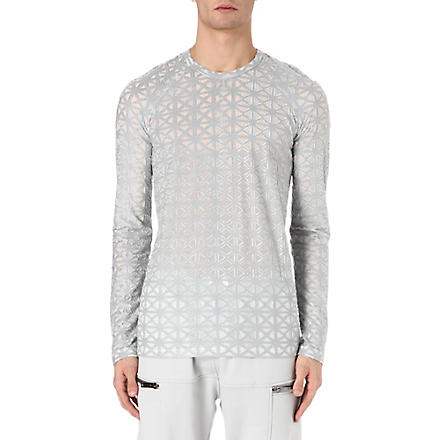GARETH PUGH Cross embroidered top (Grey/white