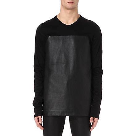 GARETH PUGH Leather panel top (Black