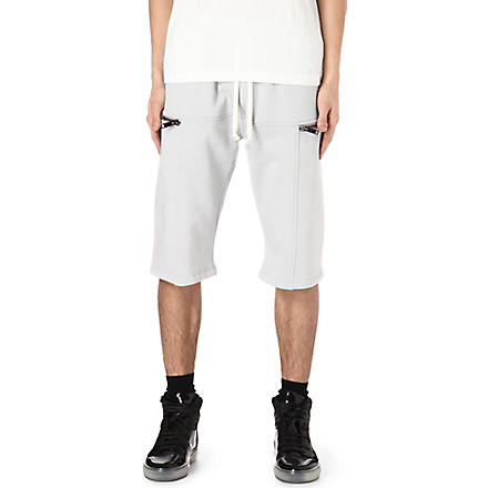 GARETH PUGH Zip sweat shorts (Grey