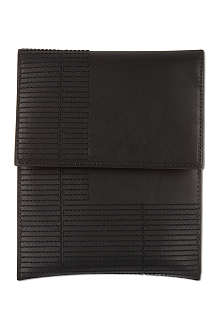 RICK OWENS Leather mini ipad case