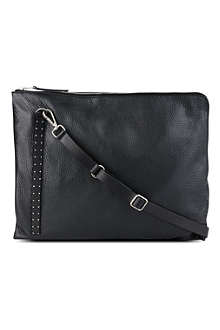 RICK OWENS Leather studded-strap envelope bag