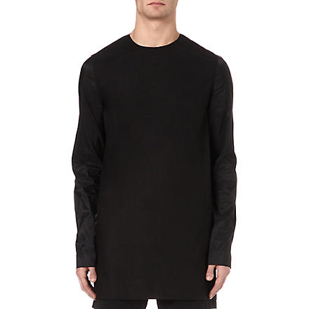 RICK OWENS Oversized cotton top (Black