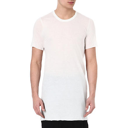 RICK OWENS Basic cotton t-shirt (Milk