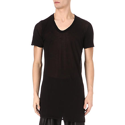 RICK OWENS V-neck t-shirt (Black