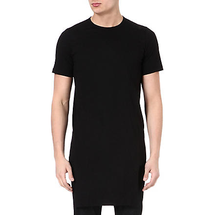 RICK OWENS Extended panel t-shirt (Black