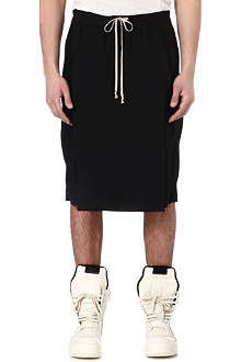 RICK OWENS Flap-front panel shorts