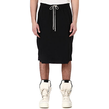 RICK OWENS Flap-front panel shorts (Black