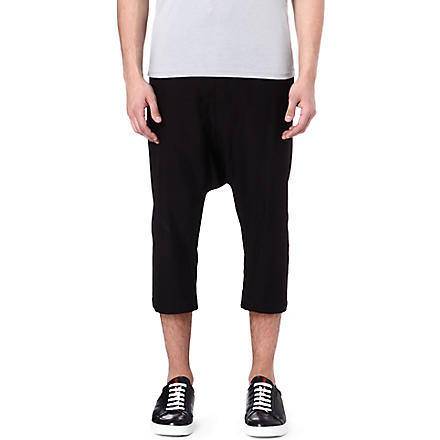 RICK OWENS Cotton-blend shorts (Black