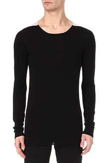 RICK OWENS Knitted shoulder patch top
