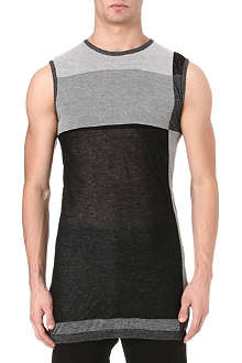 RICK OWENS Stripe panel tank top