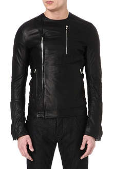 RICK OWENS Leather zip jacket