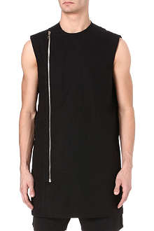 RICK OWENS Sleeveless zip top
